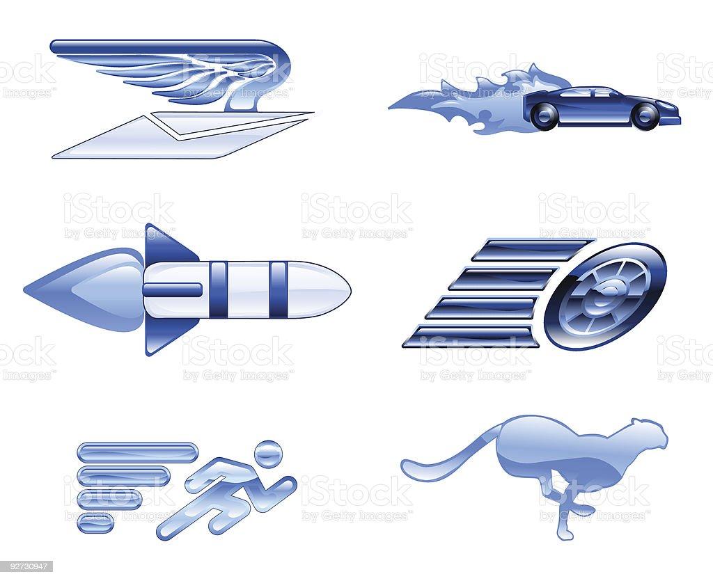 Speed Icon Set Series Design Elements royalty-free stock vector art