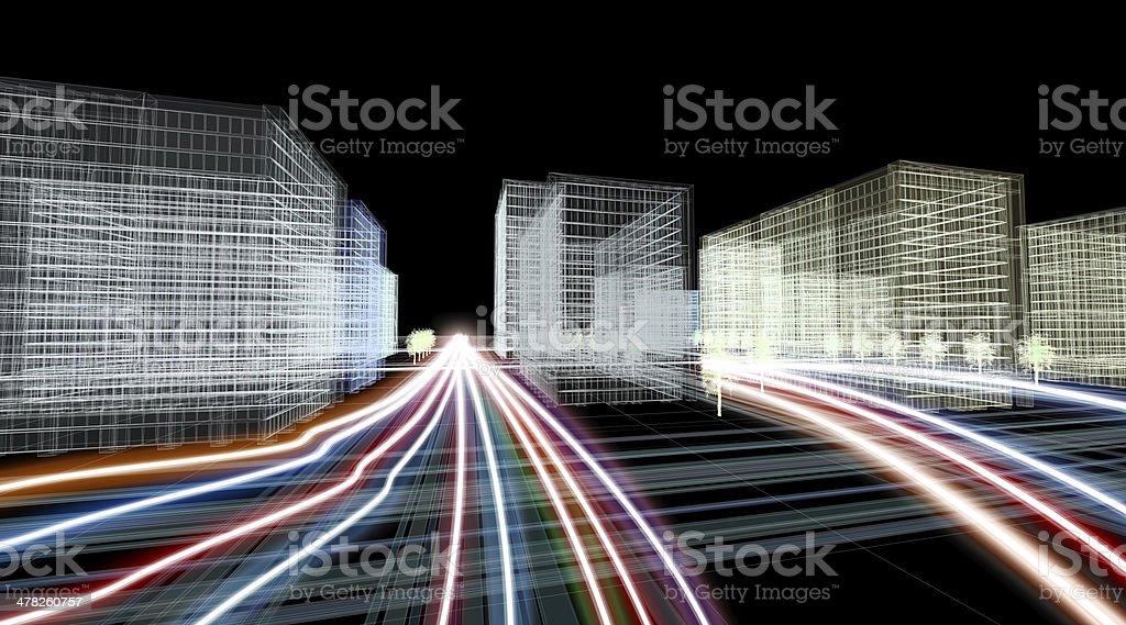 Speed Motion in the City vector art illustration