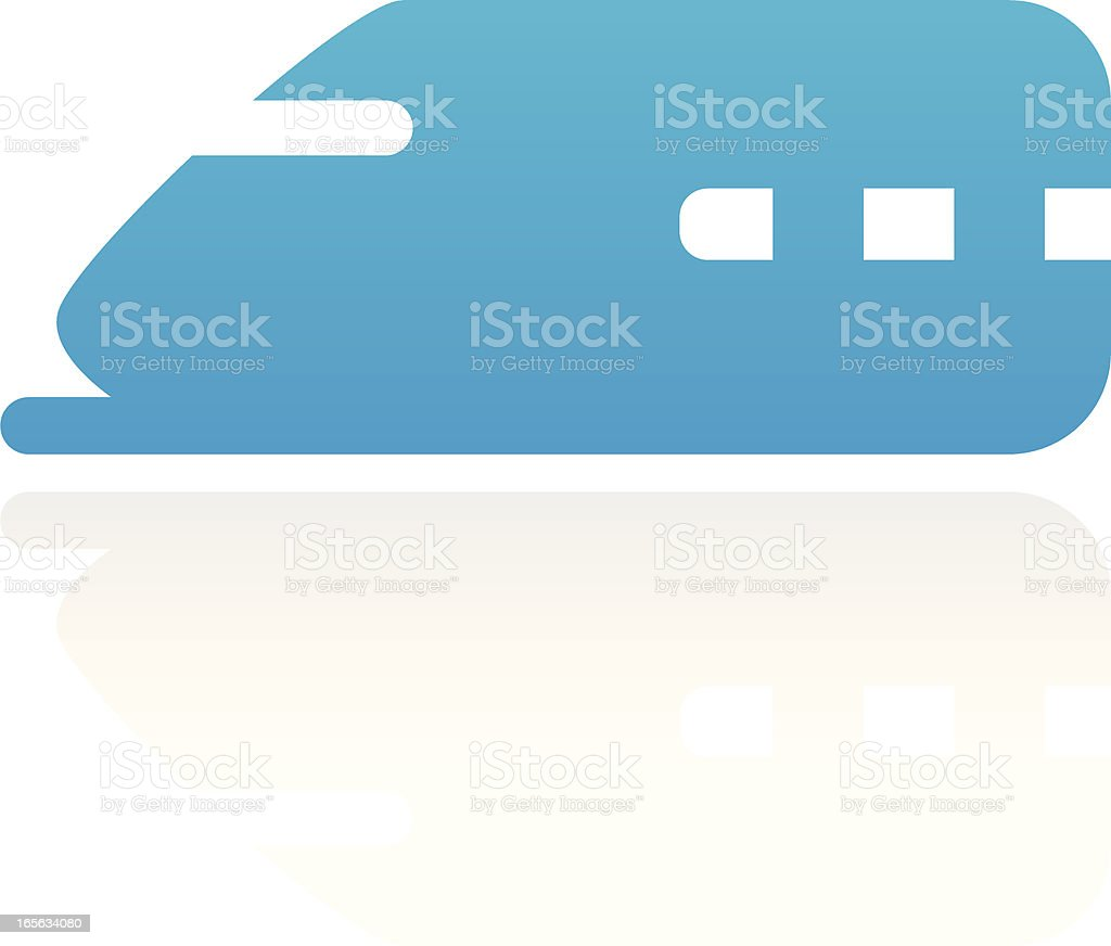Speed train vector art illustration