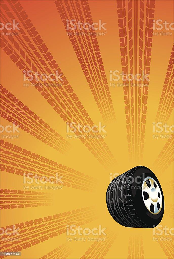 speed wheel flyer vector art illustration