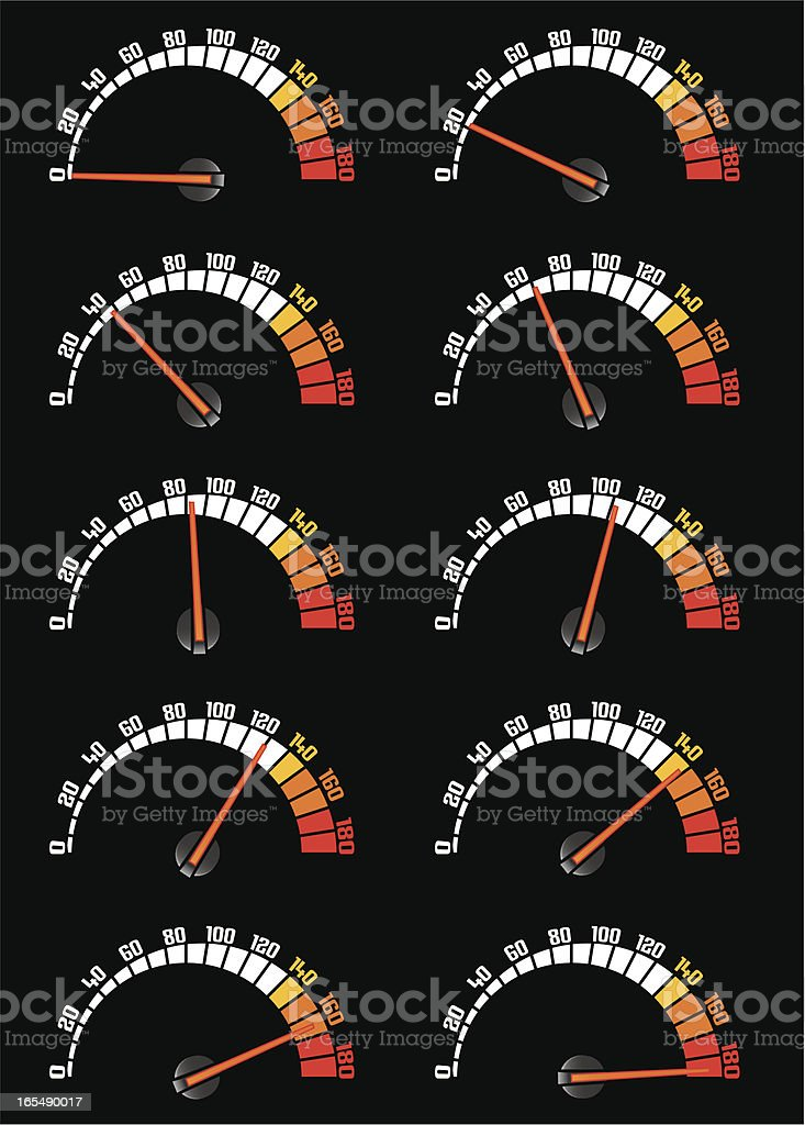 speeder royalty-free stock vector art