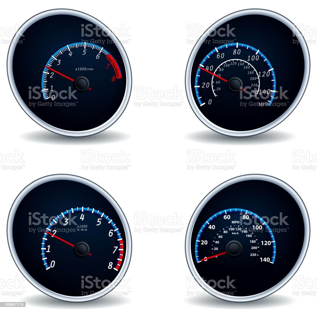 Speedometer icons royalty-free stock vector art