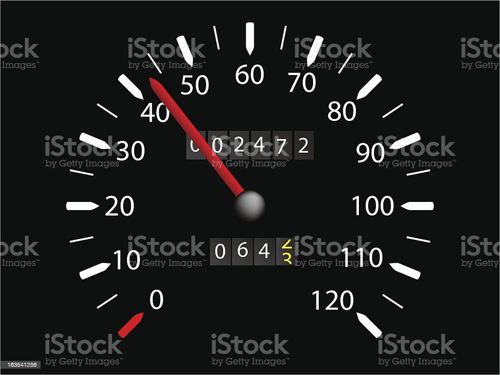 Speedometer royalty-free stock vector art