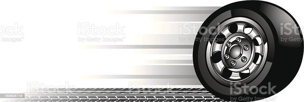 speedy tire vector art illustration