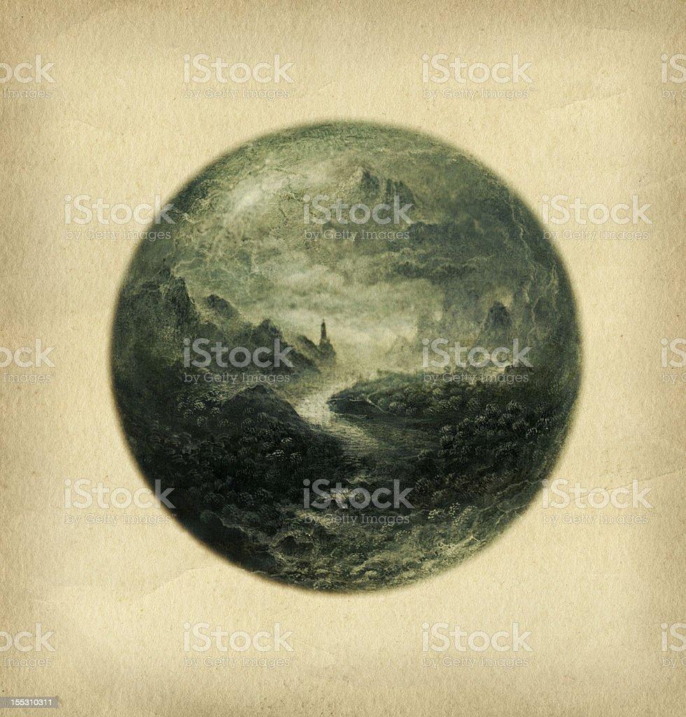 Sphere landscape royalty-free stock vector art