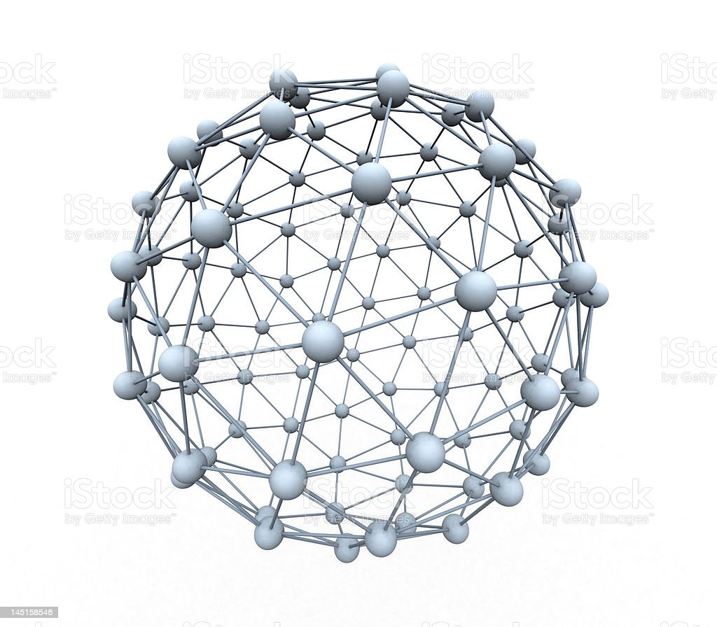 spheres connected royalty-free stock vector art