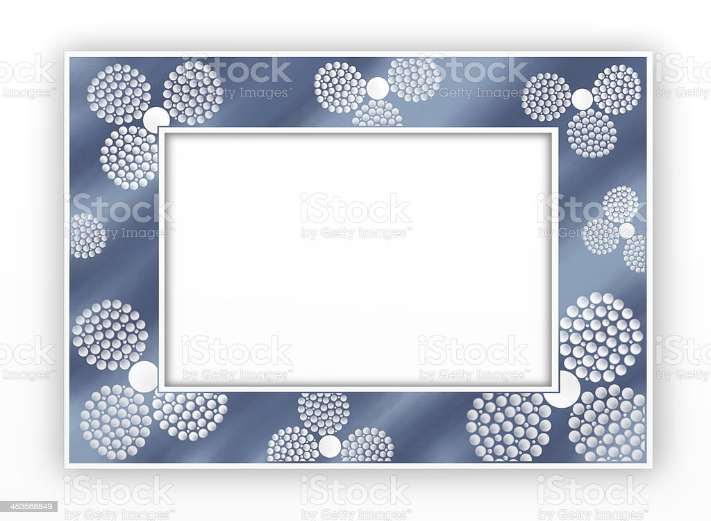 Spheres on Horizontal Blue Frame vector art illustration