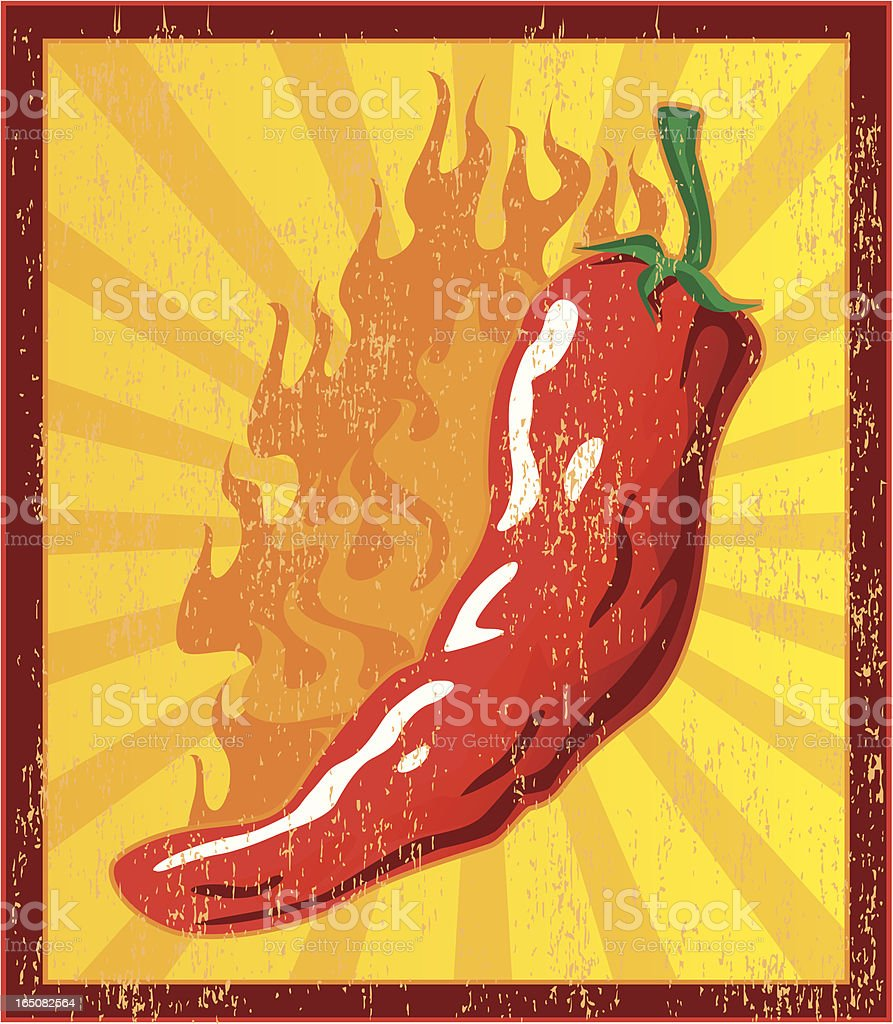 spicy sign royalty-free stock vector art