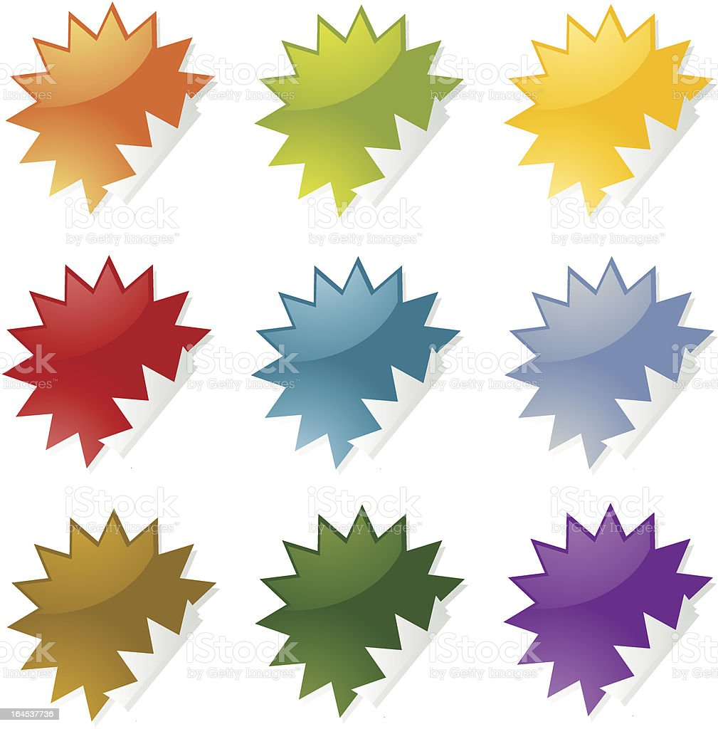 Spiky stickers royalty-free stock vector art