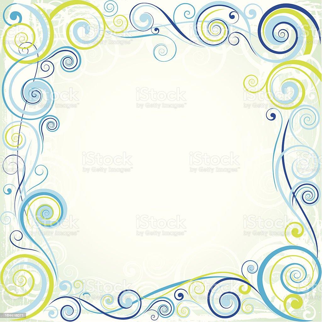 Spiral color design royalty-free stock vector art