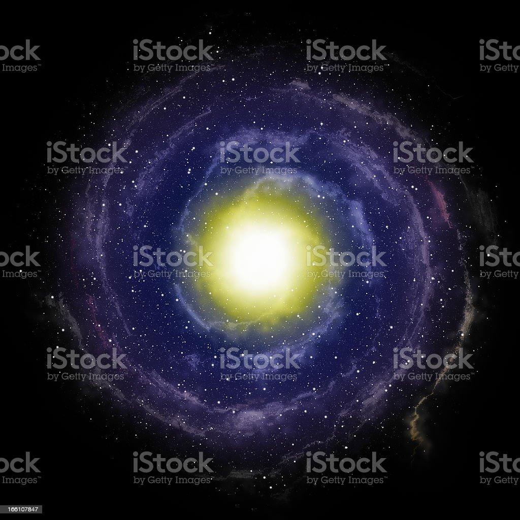 Spiral galaxy royalty-free stock vector art