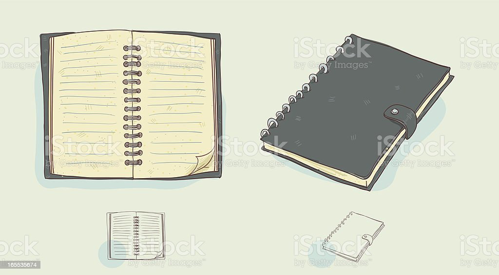 Spiral Notebook vector art illustration