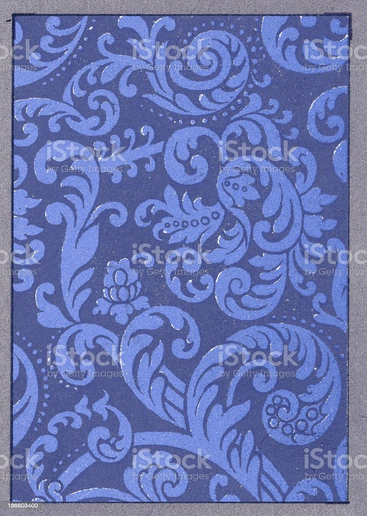 Spiral Scroll Pattern - 17th Century royalty-free stock vector art