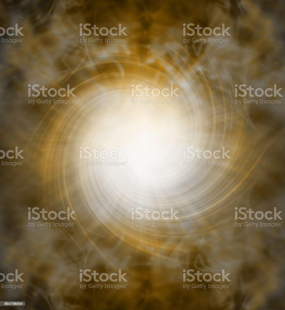 Spiraling golden white light vortex background vector art illustration