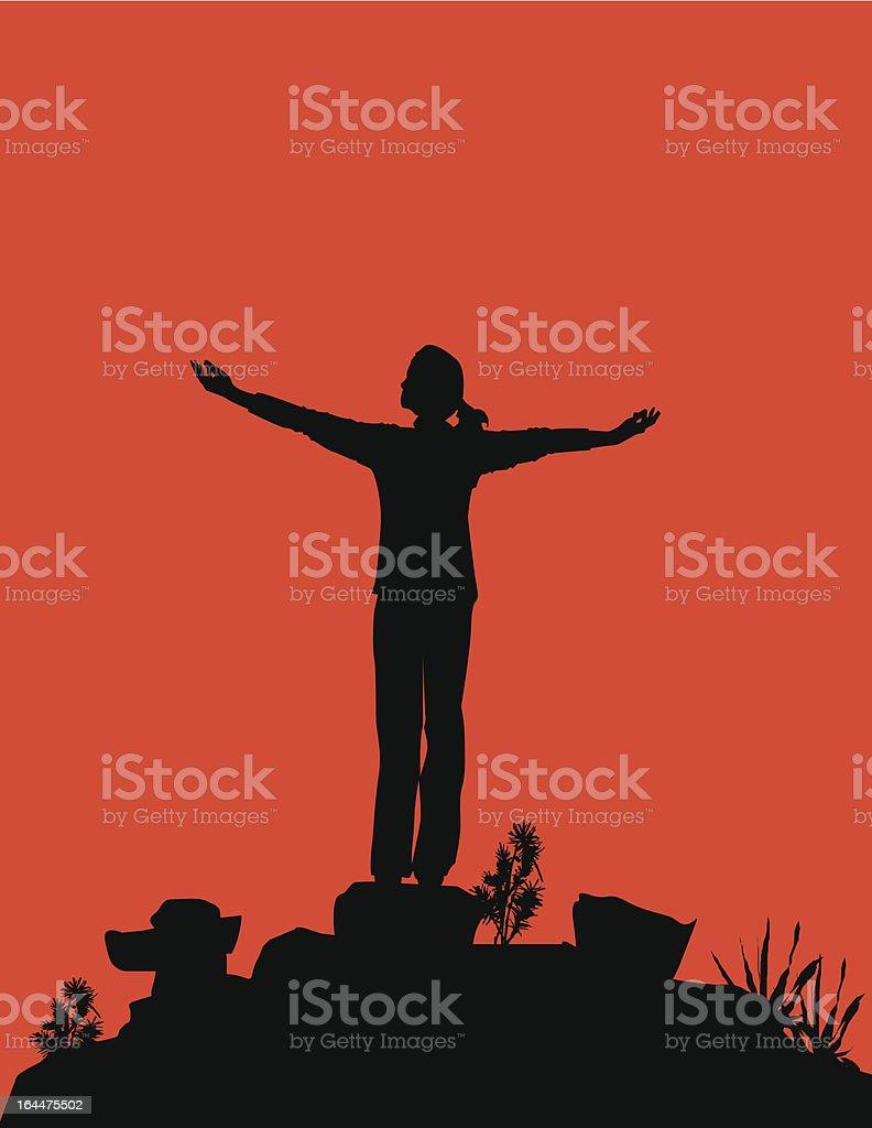Spiritual Person vector art illustration