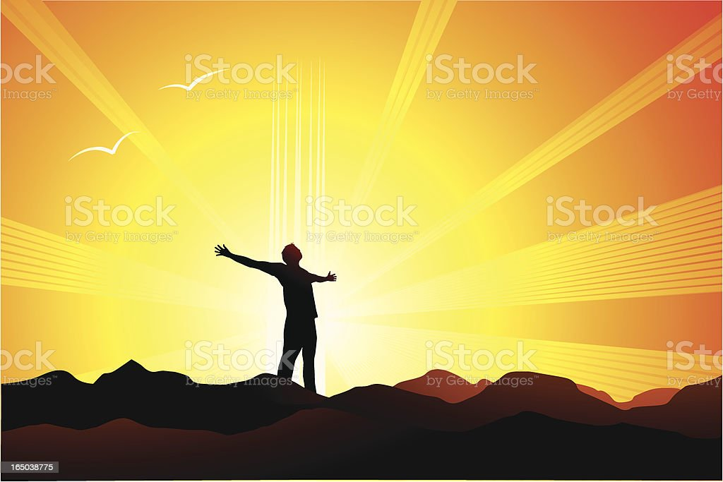 Spirituality vector art illustration