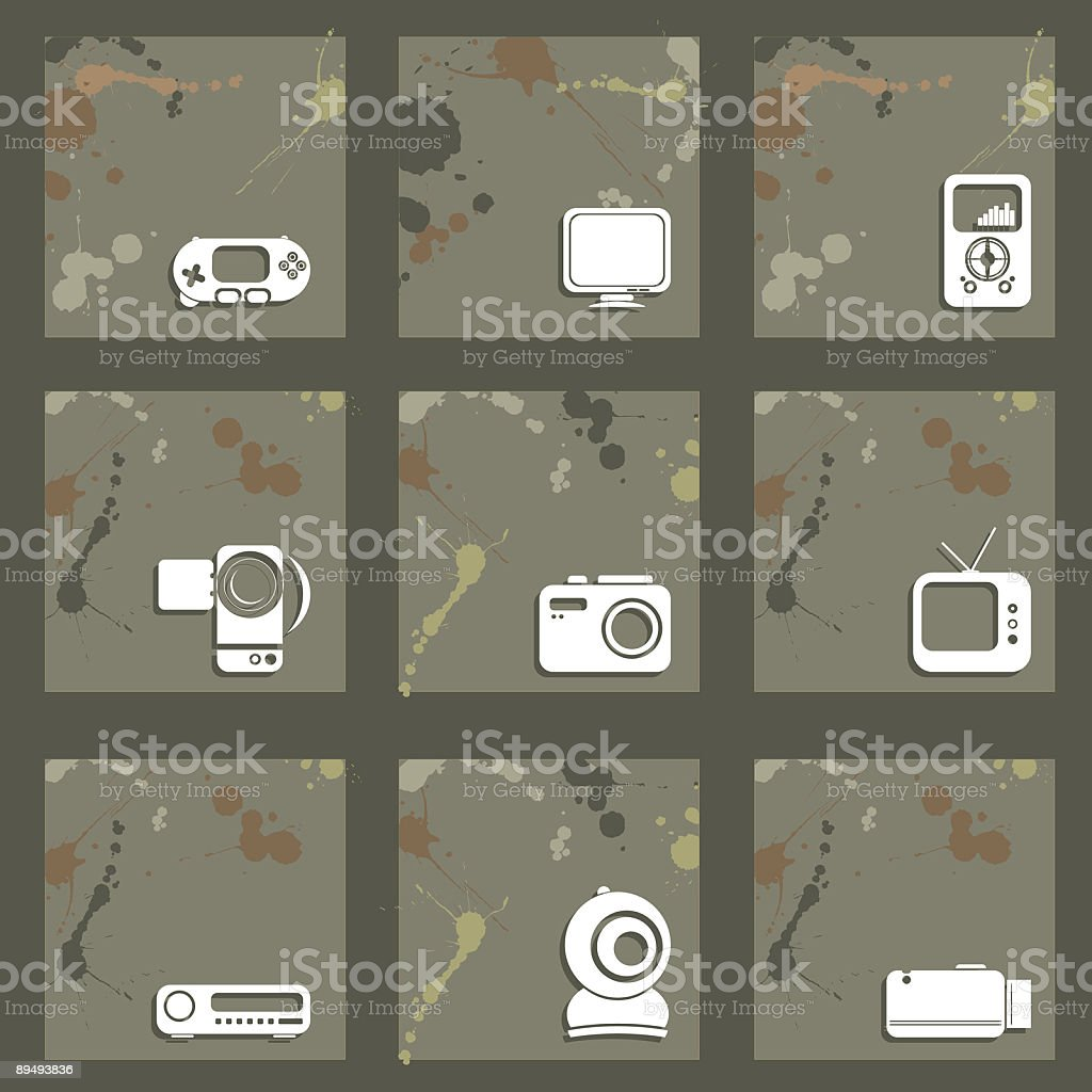 Splash Tech Icons royalty-free stock vector art