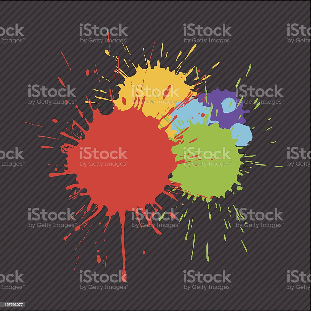 splashes vector art illustration