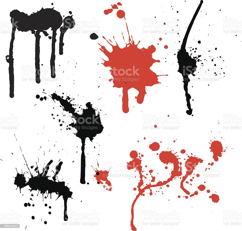 Splats and drips royalty-free stock vector art