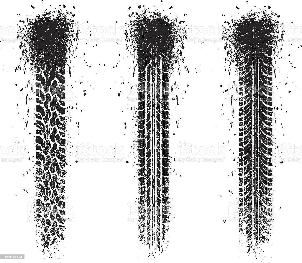 splatter tracks vector art illustration