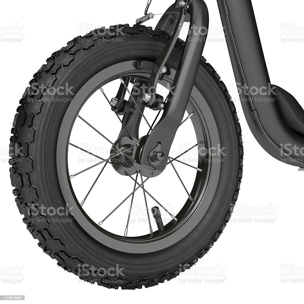 Spoked wheel vector art illustration