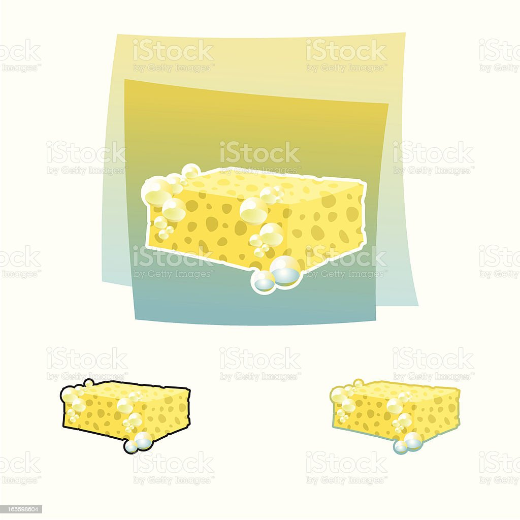 Sponge royalty-free stock vector art