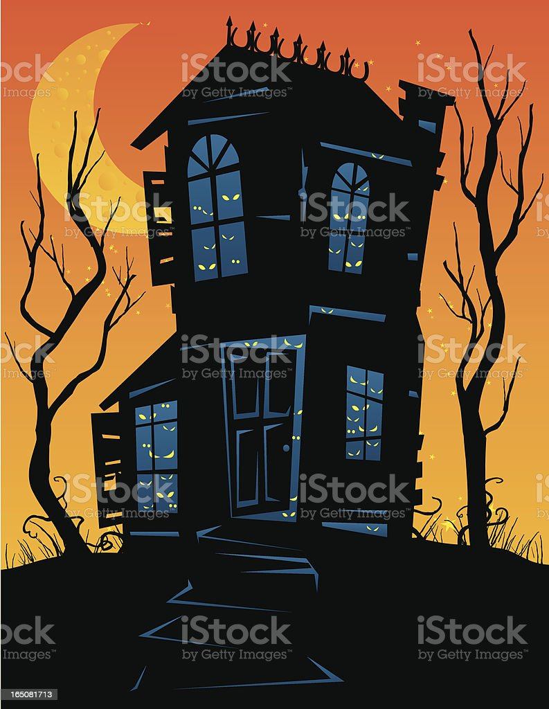 spooky house royalty-free stock vector art