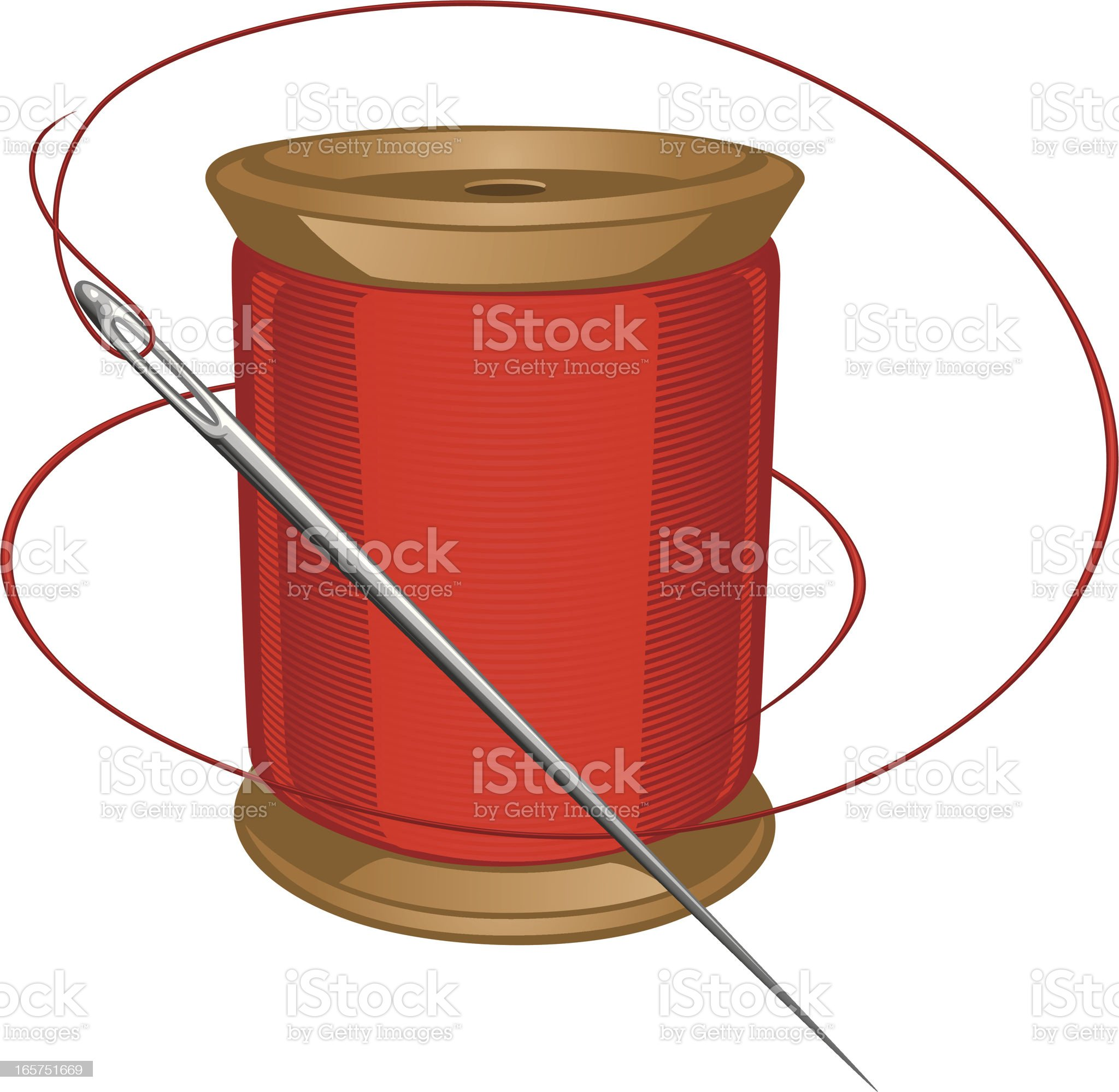 spool and needle royalty-free stock vector art