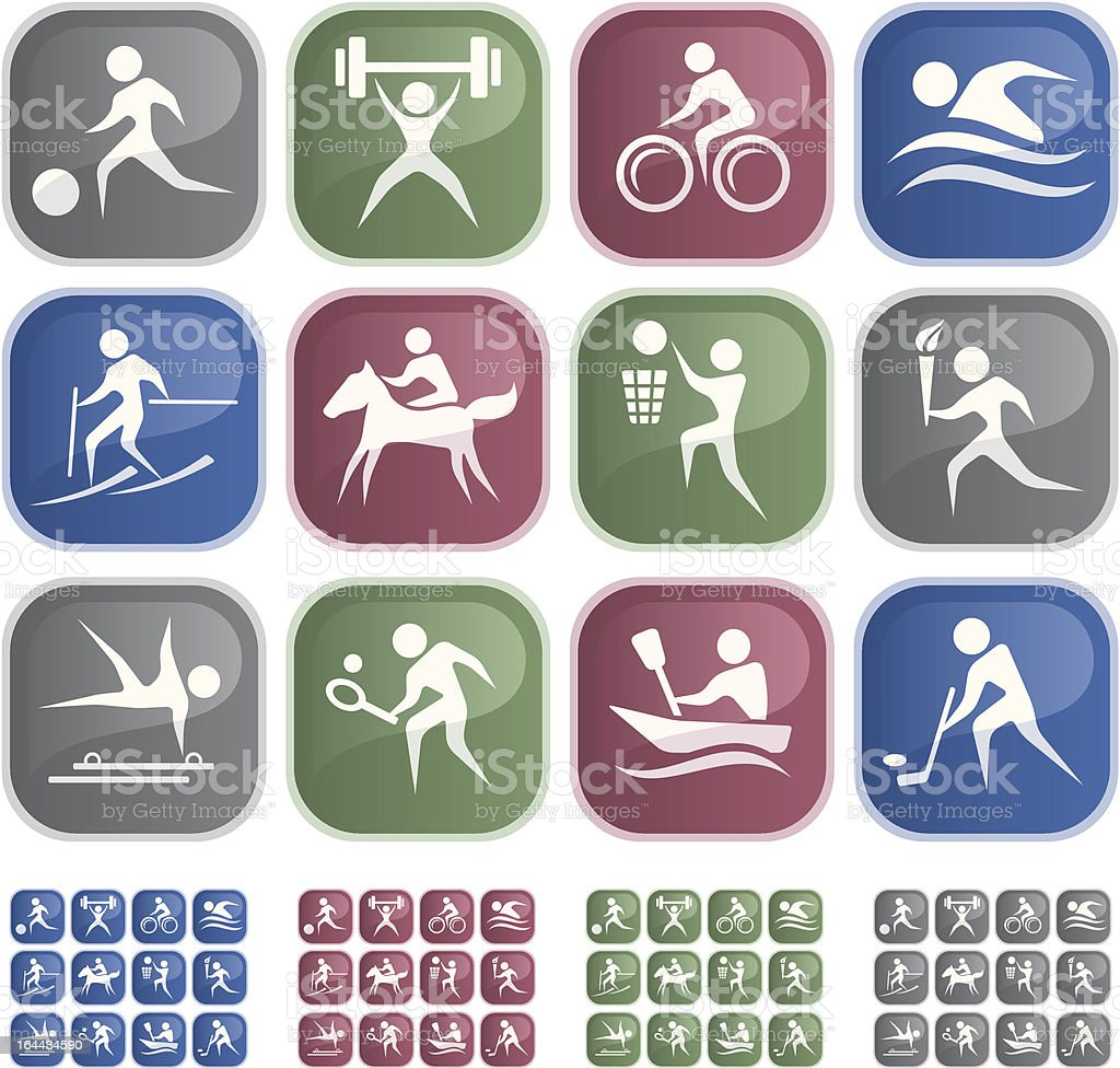 Sport buttons royalty-free stock vector art