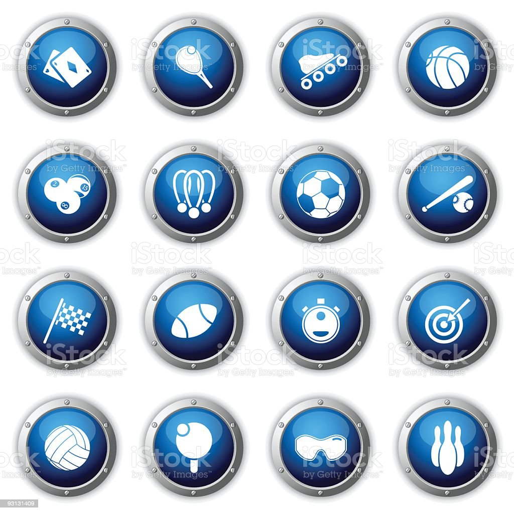 Sport buttons. royalty-free stock vector art