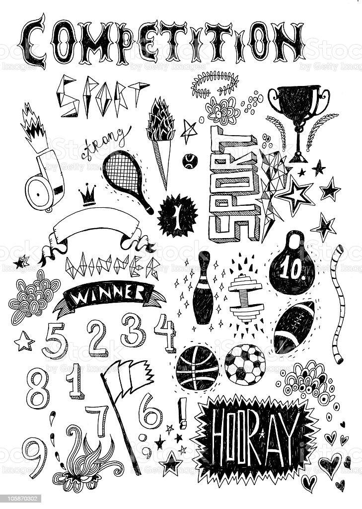 Sport doodle royalty-free stock vector art