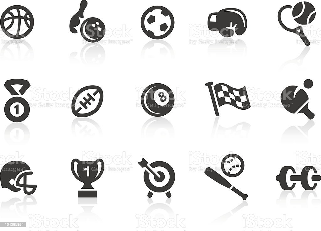 Sport Equipment icons royalty-free stock vector art