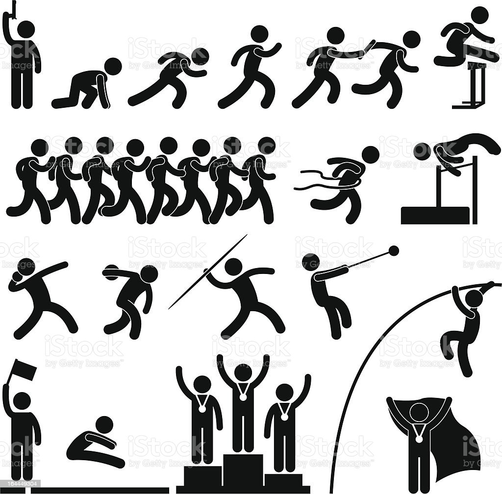 Sport Field and Track Game Event Pictogram vector art illustration
