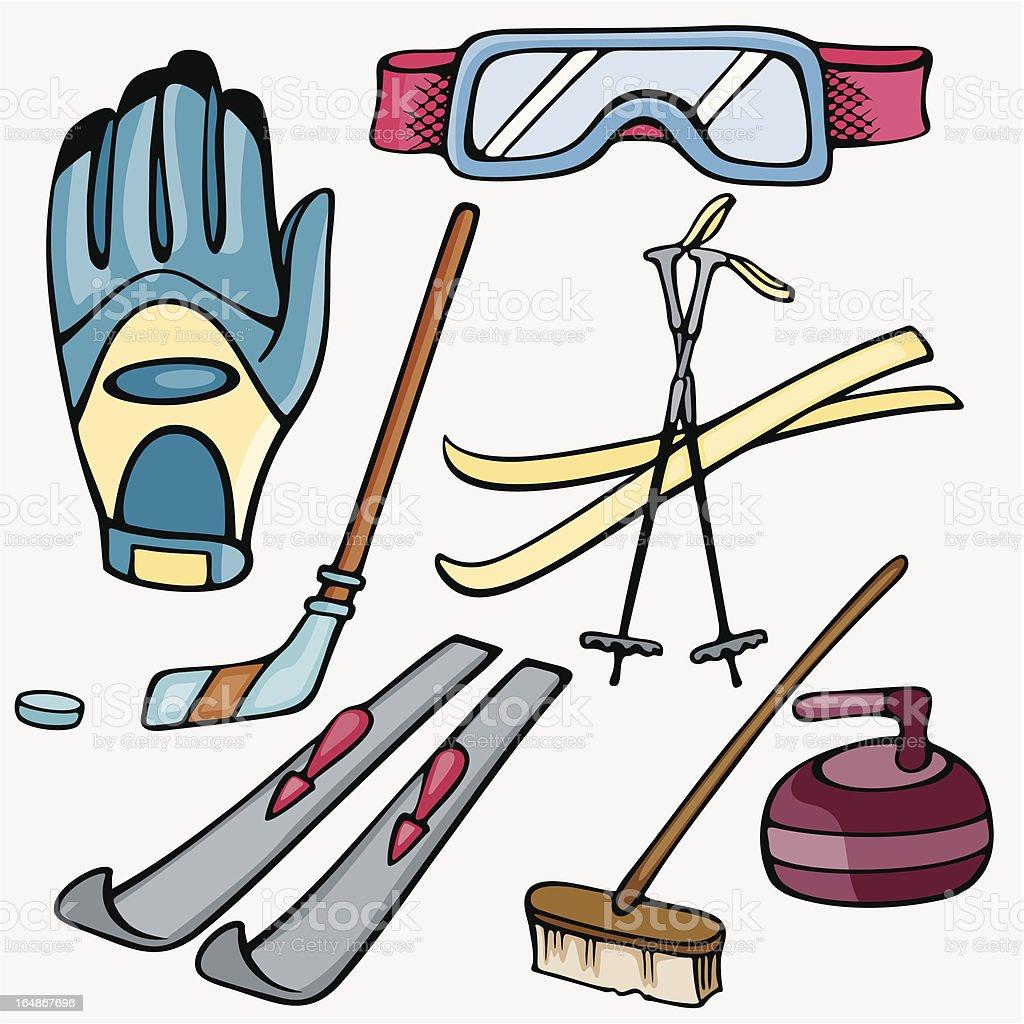 Sport Icons VIII: Winter Sports (Vector) royalty-free stock vector art