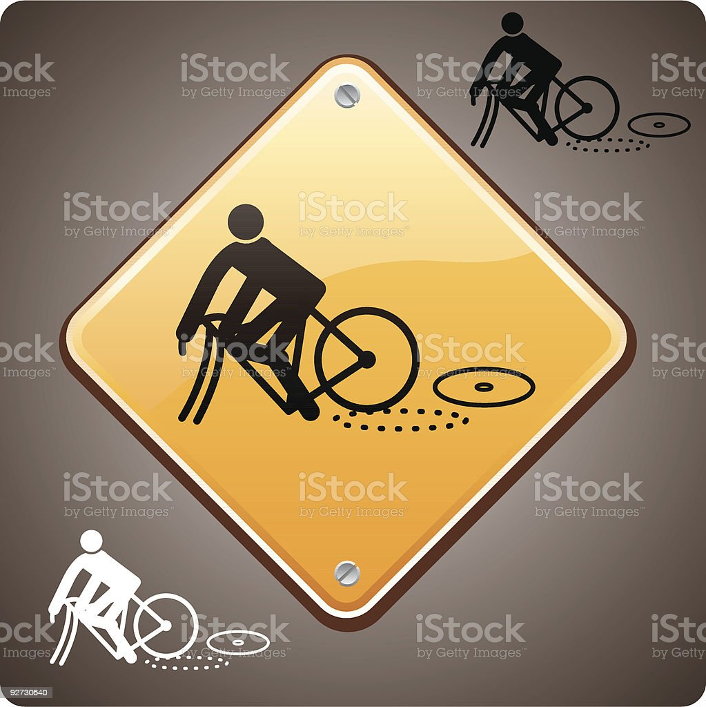 sport incident, bike royalty-free stock vector art
