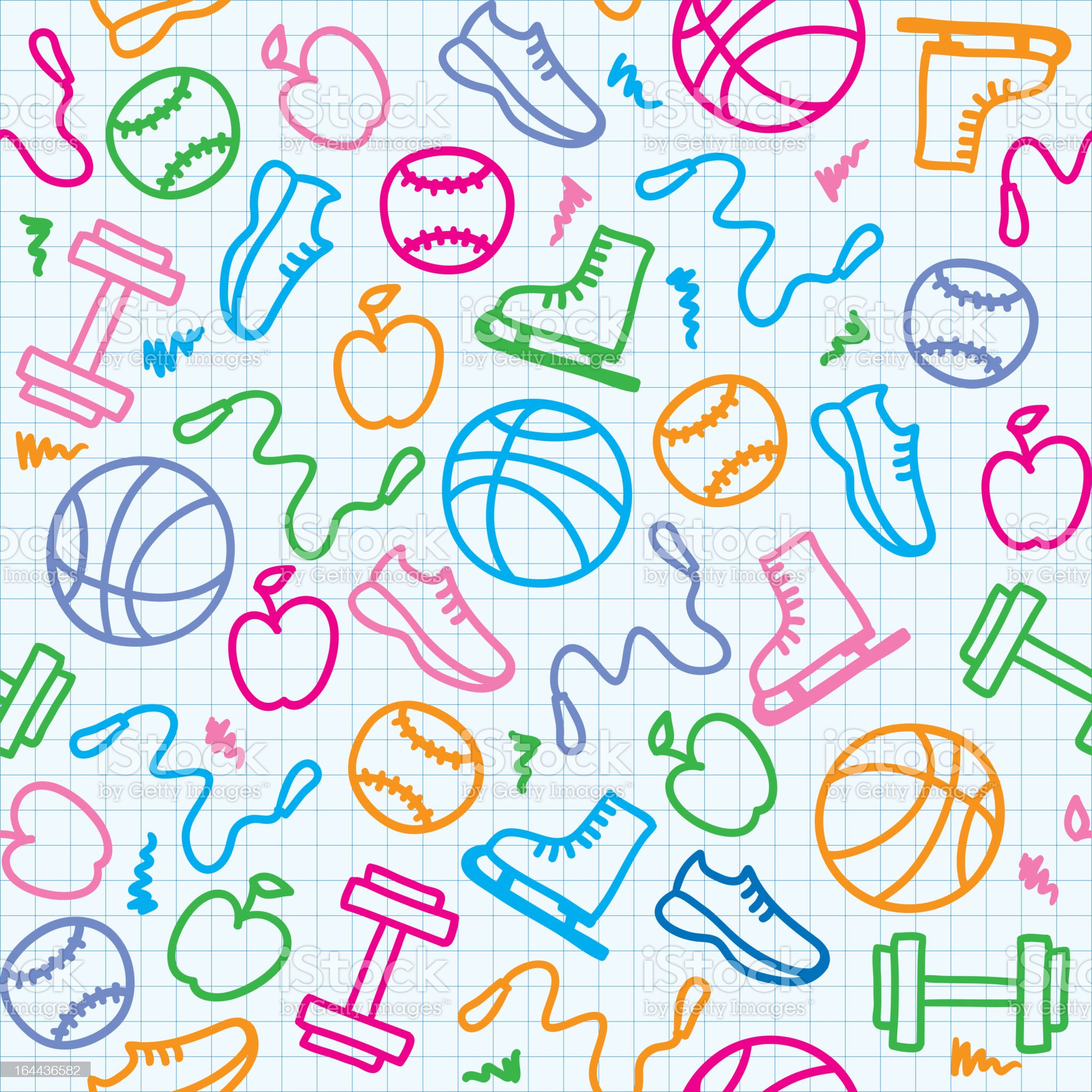 sport pattern royalty-free stock vector art