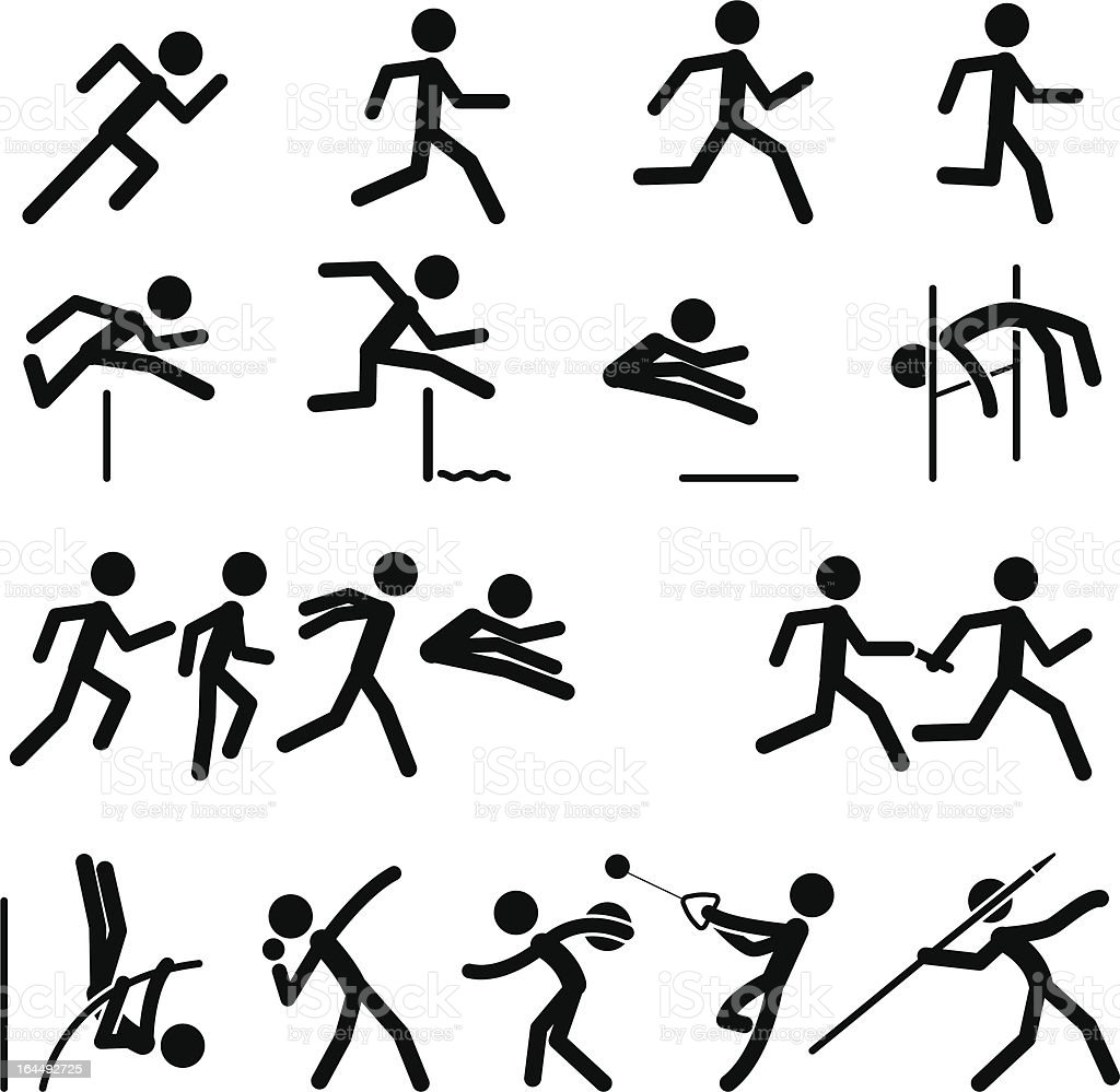 Sport Pictogram Icon Set 02 Track & Field royalty-free stock vector art
