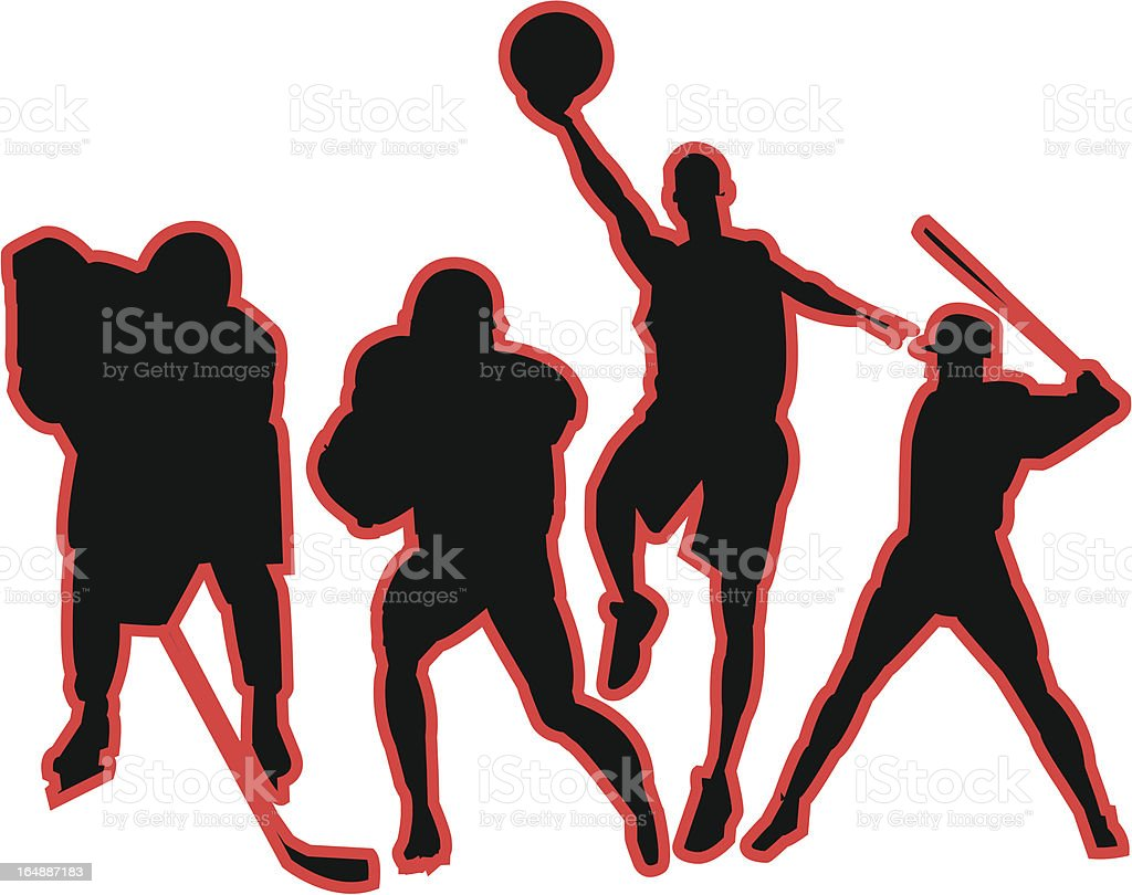 Sports Action Figures royalty-free stock vector art