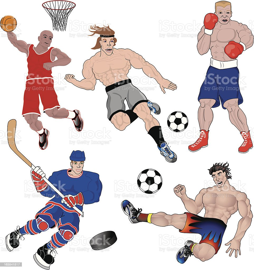 Sports Characters royalty-free stock vector art