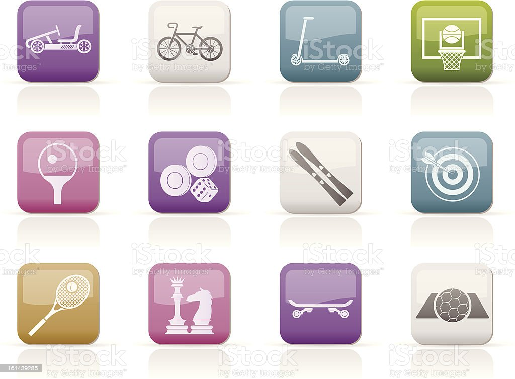sports equipment and objects icons royalty-free stock vector art