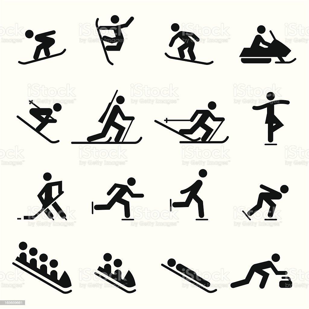 Sports Icons Winter vector art illustration