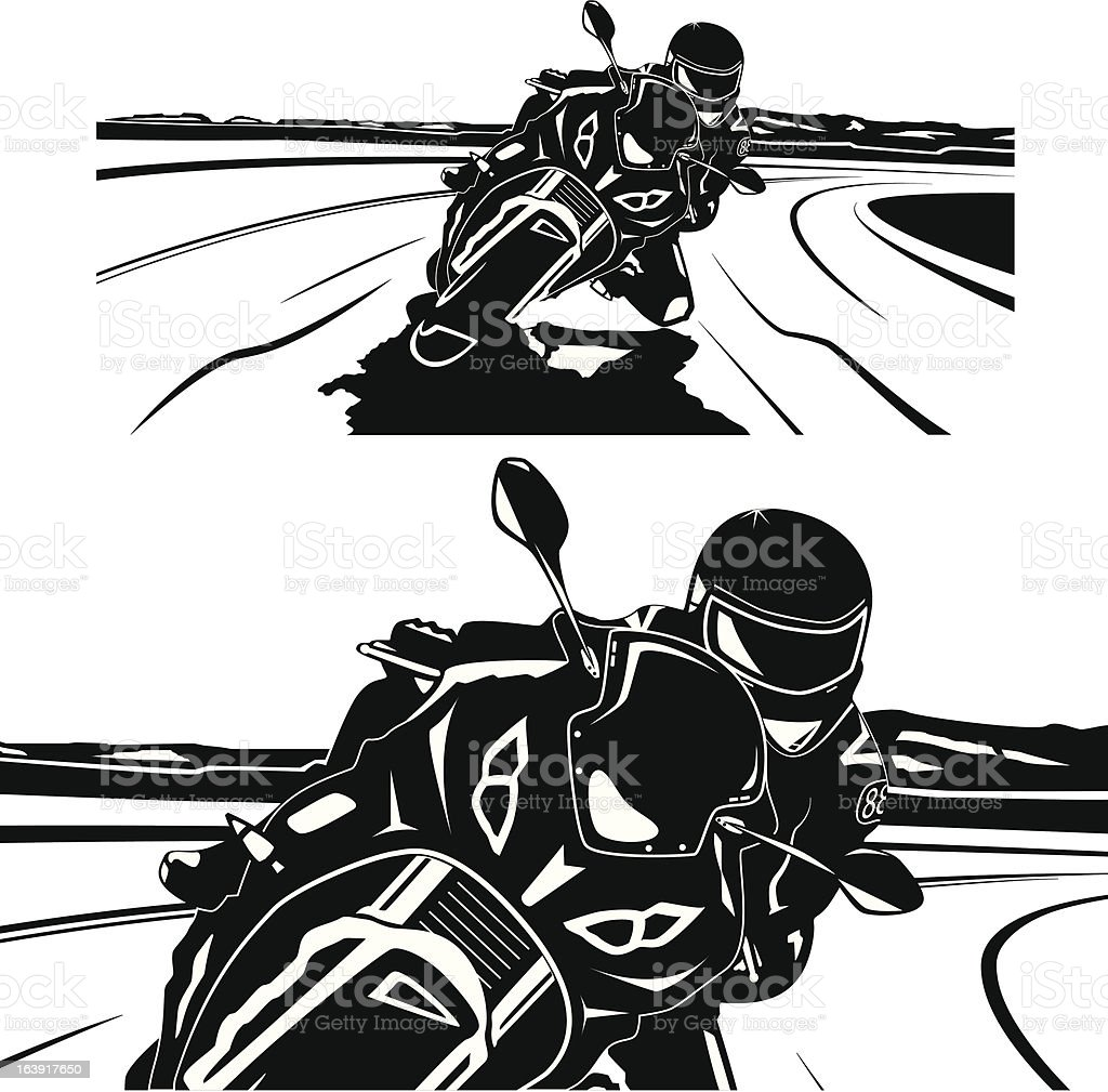 Sports motorcycle royalty-free stock vector art