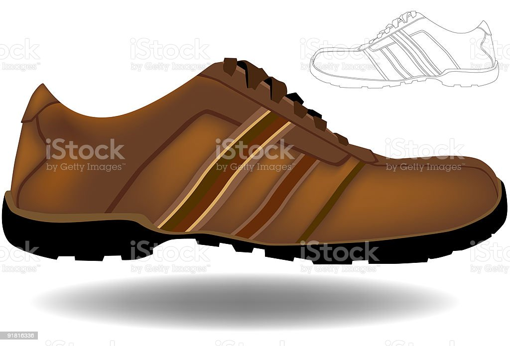 Sport's Shoe royalty-free stock vector art