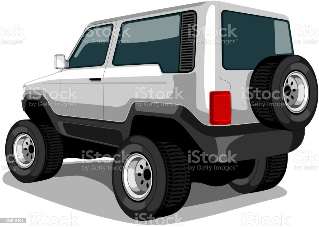 Sports Utility Vehicle. royalty-free stock vector art