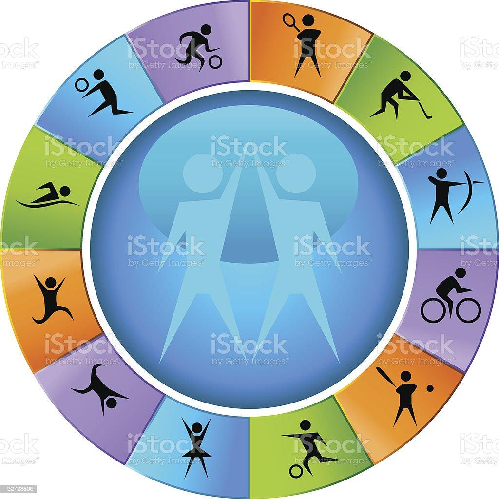 Sports Wheel royalty-free stock vector art