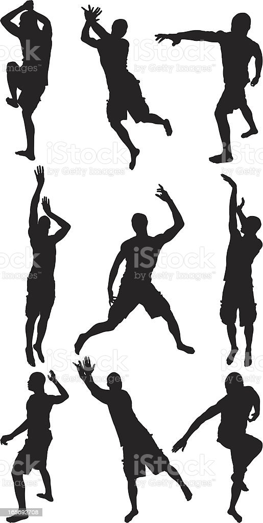 Sportsman in action royalty-free stock vector art