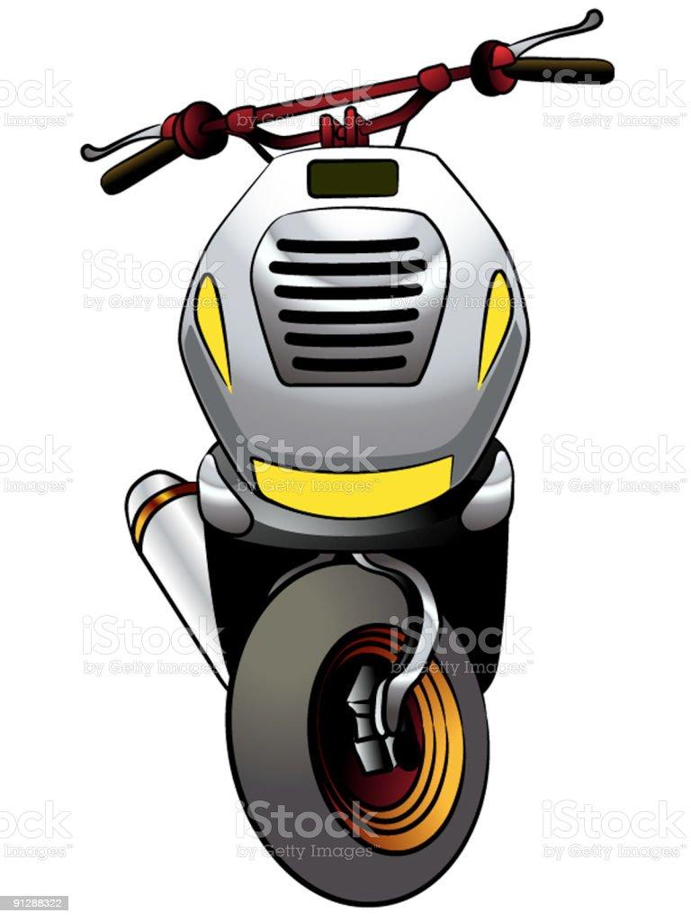Sporty Scooter Cartoon royalty-free stock vector art