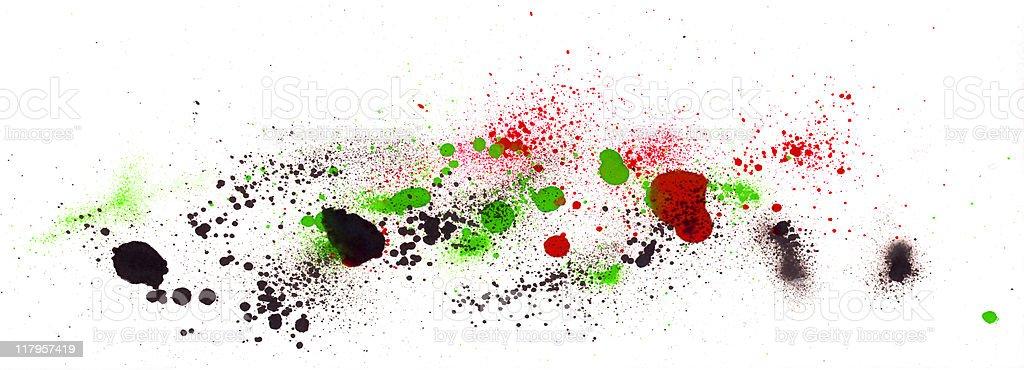 Spray splatters royalty-free stock vector art