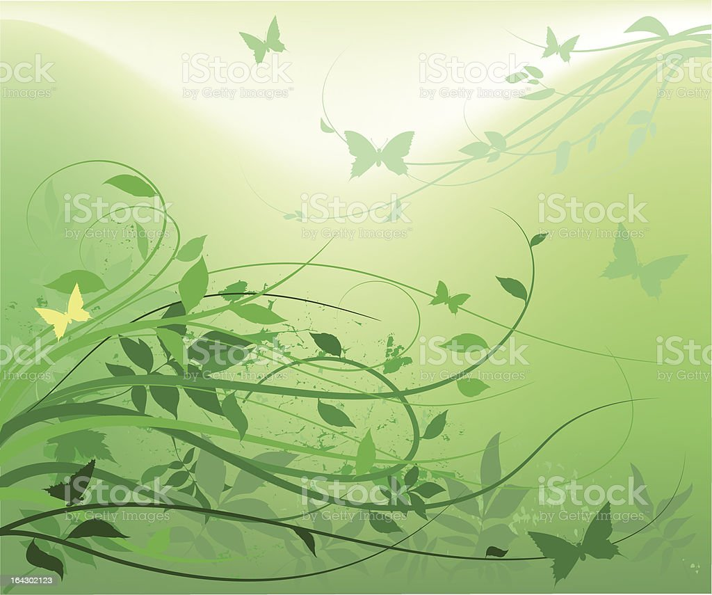spring background in green royalty-free stock vector art