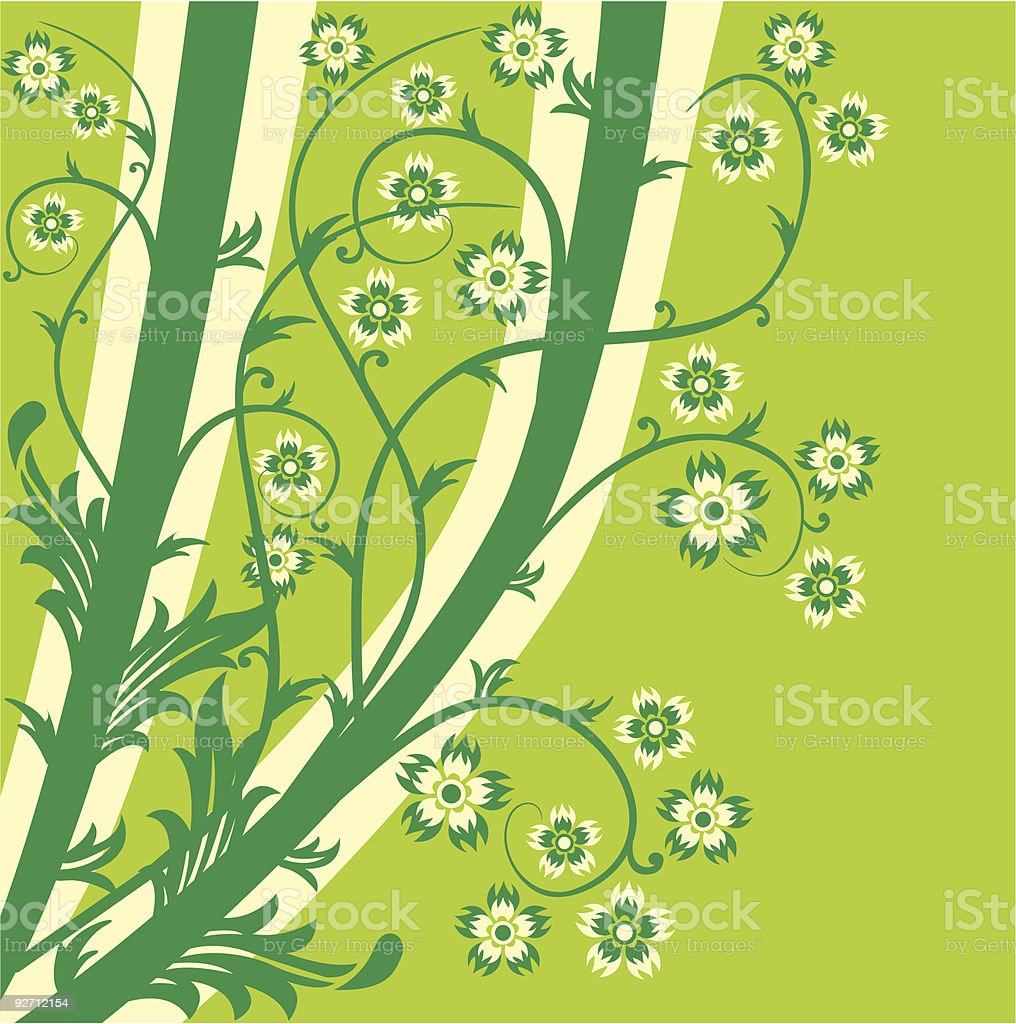 Spring background, vector royalty-free stock vector art